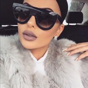 2c260d93bd3d Celine Accessories - Celine Andrea Black Oversized Flat Top Sunglasses